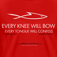Design ~ EVERY KNEE WILL BOW (Multicolor on red) Version 1