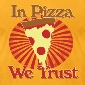 In pizza we trust - Men's T-Shirt by American Apparel
