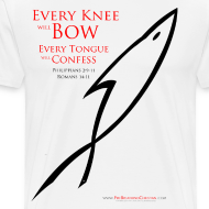 Design ~ EVERY KNEE WILL BOW (Multicolor on white) Version 2
