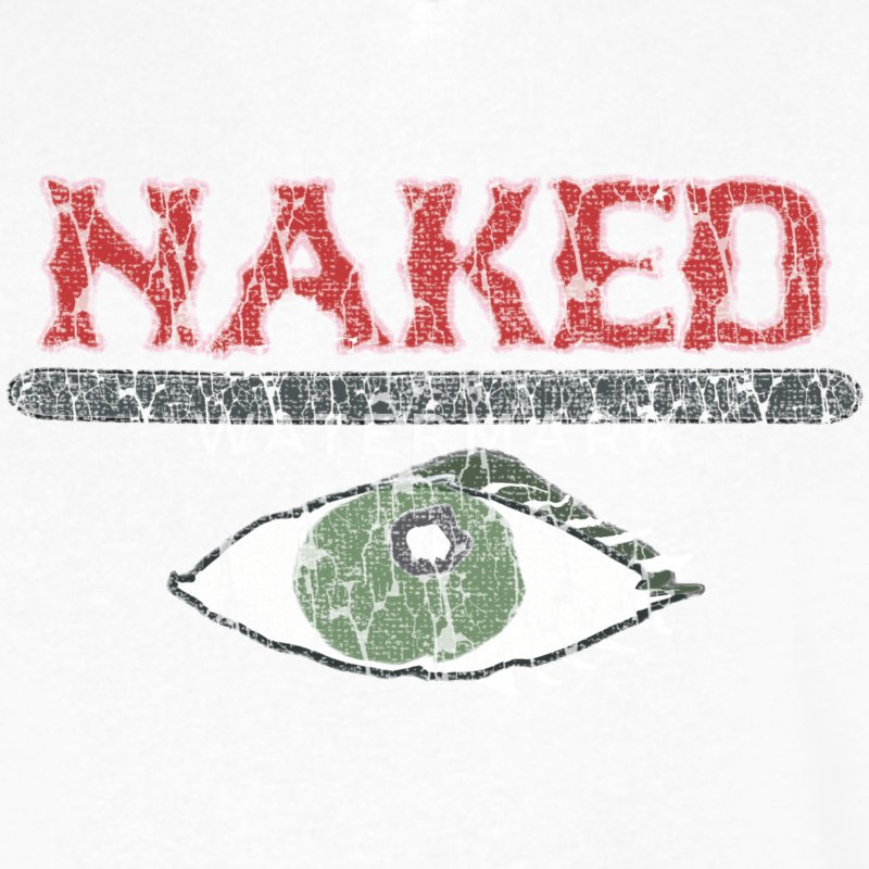 Boston Combat Zone Naked Eye I T-Shirts - Men's V-Neck T-Shirt by Canvas