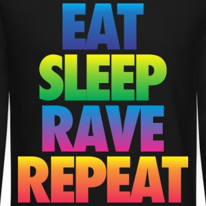 Eat Sleep Rave Repeat Long Sleeve Shirts - Crewneck Sweatshirt