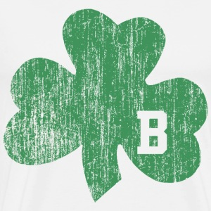 Distressed Boston Shamrock B T-Shirts - Men's Premium T-Shirt