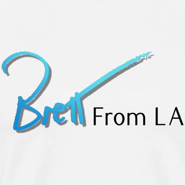 BrettFromLA white tee