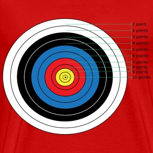 Archery Target Points - Men's Premium T-Shirt