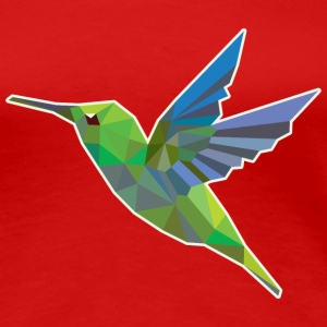 Humming bird low polygon Women's T-Shirts - Women's Premium T-Shirt