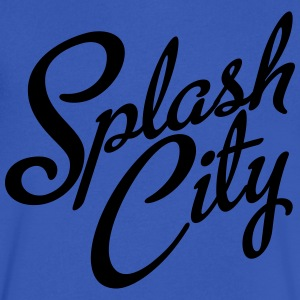 Splash City Hoops CA Basketball T-Shirts - Men's V-Neck T-Shirt by Canvas