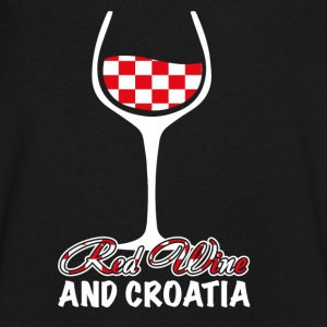 red wine and croatia T-Shirts - Men's V-Neck T-Shirt by Canvas