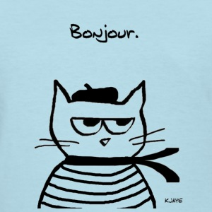 Angry Cat is Terribly French - Women's T-Shirt