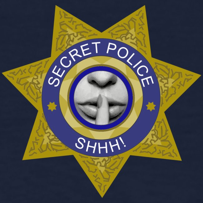 Secret Police Shhh! Badge f