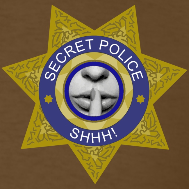 Secret Police Shhh! Badge