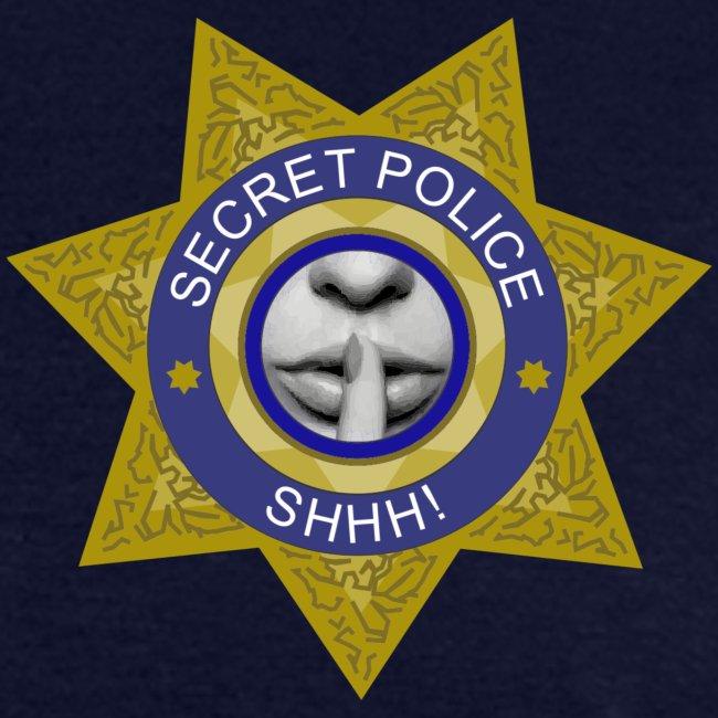 Secret Police Shhh! Badge