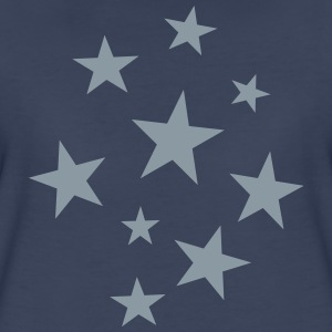 Stars Party T-Shirt (Women Navy/Silver) - Women's Premium T-Shirt