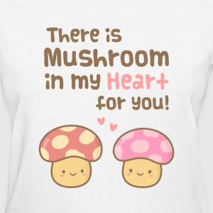cute Mushroom in my heart Women's T-Shirts - Women's T-Shirt