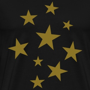 Stars Party T-Shirt (Men Black/Gold) - Men's Premium T-Shirt