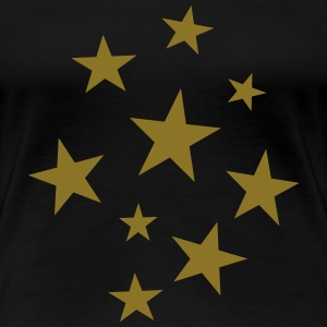 Stars Party T-Shirt (Women Black/Gold) - Women's Premium T-Shirt