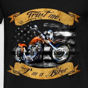 Motorcycles T-shirt - Trust me, I am a biker - Men's Premium T-Shirt