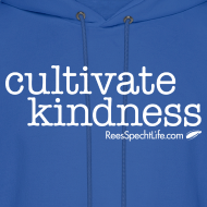 Design ~ Cultivate Kindness White Logo Men's Hodded Sweatshirt