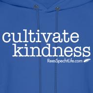 Design ~ Cultivate Kindness White Logo Men's Hodded Sweatshirt