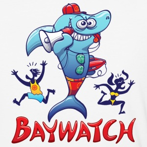 Baywatch Shark T-Shirts - Baseball T-Shirt