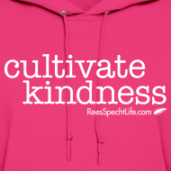 Design ~ Cultivate Kindness White Logo Women's Hodded Sweatshirt