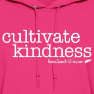 Design ~ Cultivate Kindness White Logo Women's Hodded Sweatshirt