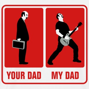 your_dad_my_dad_guitar_player01_3c T-Shirts - Men's Premium T-Shirt