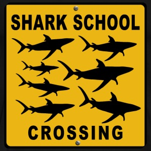 Shark School Crossing.  - Men's Premium T-Shirt