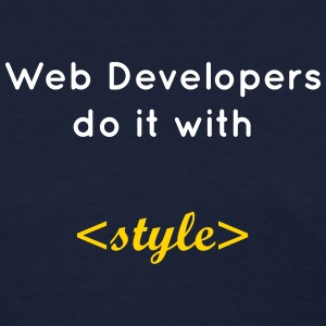 web developers do it with style Women's T-Shirts - Women's T-Shirt