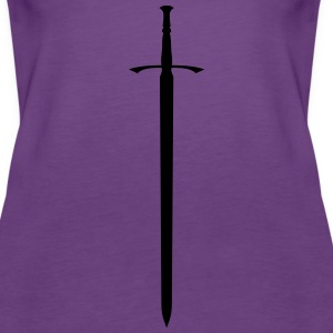 Celtic sword silhouette by Rones - Women's Premium Tank Top
