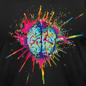 LSD Brain T-Shirts - Men's T-Shirt by American Apparel