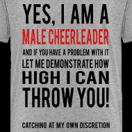 Design ~ Male Cheerleader Kids Shirts