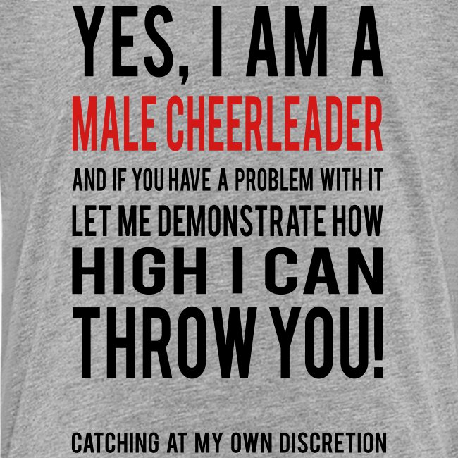 Male Cheerleader Kids Shirts