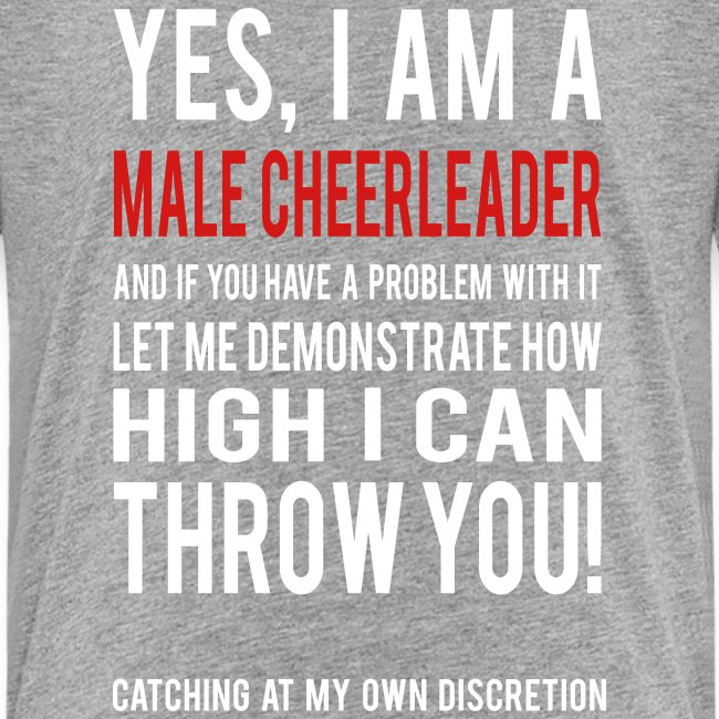 Male Cheerleader Kids Shirts- white text