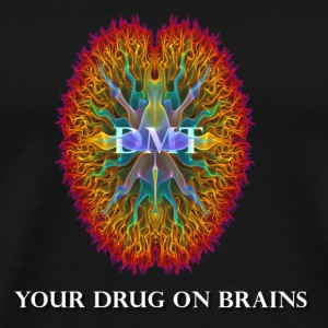 DMT ...your drug on brains - Men's Premium T-Shirt