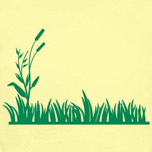 grass background - Short Sleeve Baby Bodysuit