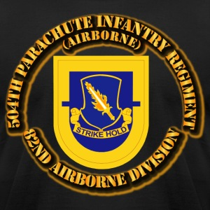 504th, Parachute Infantry Regiment - Men's T-Shirt by American Apparel