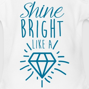 shine bright a diamond Baby Bodysuits - Short Sleeve Baby Bodysuit