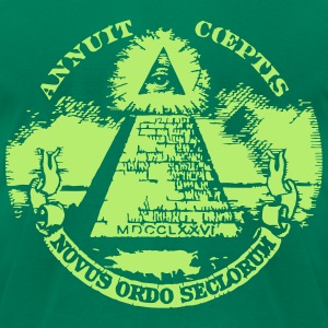 masonic pyramid dollar T-Shirts - Men's T-Shirt by American Apparel