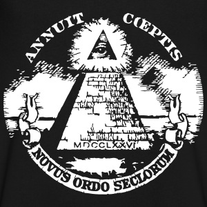 masonic pyramid dollar T-Shirts - Men's V-Neck T-Shirt by Canvas