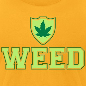 Weed Shield T-Shirts - Men's T-Shirt by American Apparel