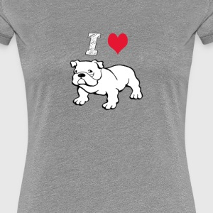 I  Love Bulldog  - Women's Premium T-Shirt