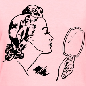 Lady with hand mirror - Women's T-Shirt