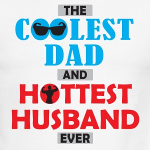 Coolest Dad & Hottest Hubby - Men's Ringer T-Shirt