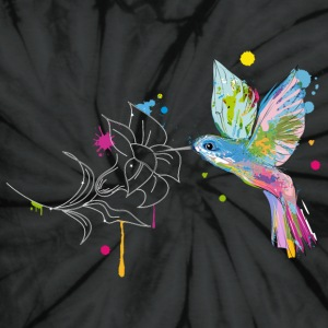A hummingbird and a flower T-Shirts - Unisex Tie Dye T-Shirt