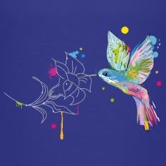 A hummingbird and a flower Kids' Shirts