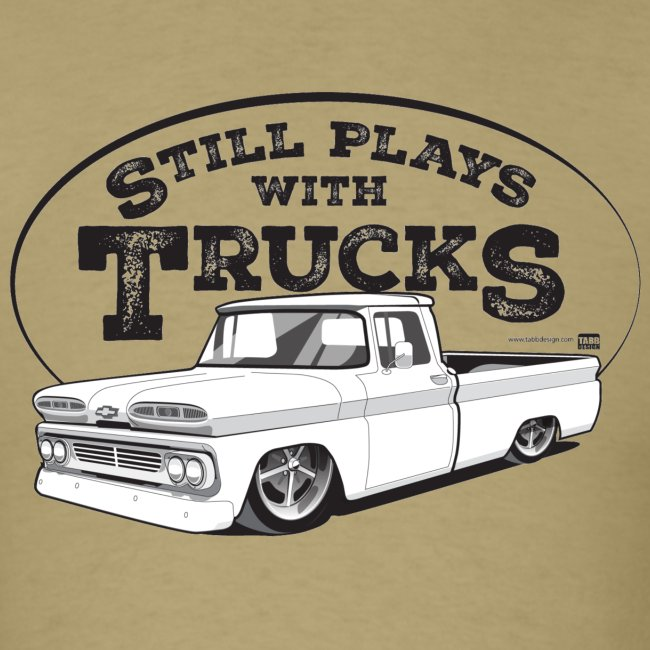 1960 Slammed C10 Longbed Fleetside Tee (Black graphic)