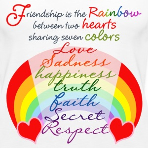Friendship Rainbow - Women's Premium Tank Top