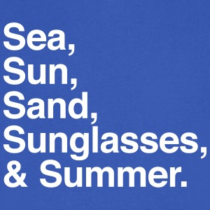 Sea Sun Sand Sunglasses and Summer T-Shirts - Men's V-Neck T-Shirt by Canvas