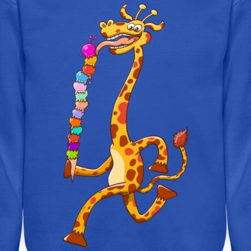 Cool Giraffe Eating Ice Cream