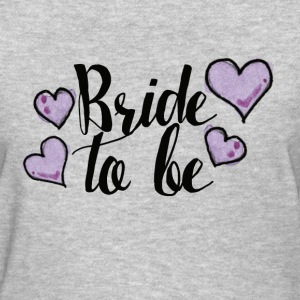 Bride to be purple hearts - Women's T-Shirt